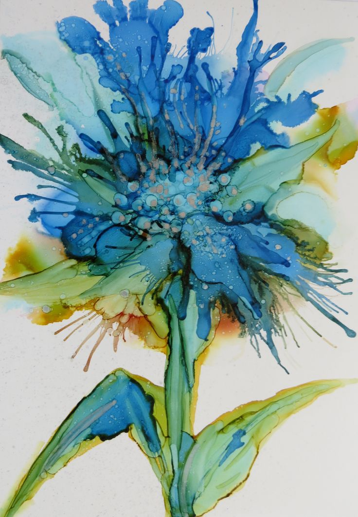 Alcohol Ink on Yupo - Helen Cook