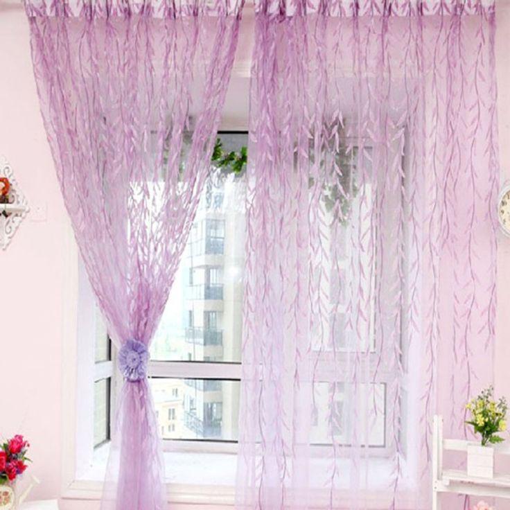 Пастырской чистые занавески для окно номер украшения свежий шторы для гостиной элегантный ивы шаблон вуаль окна скринингкупить в магазине Moda HomeнаAliExpress