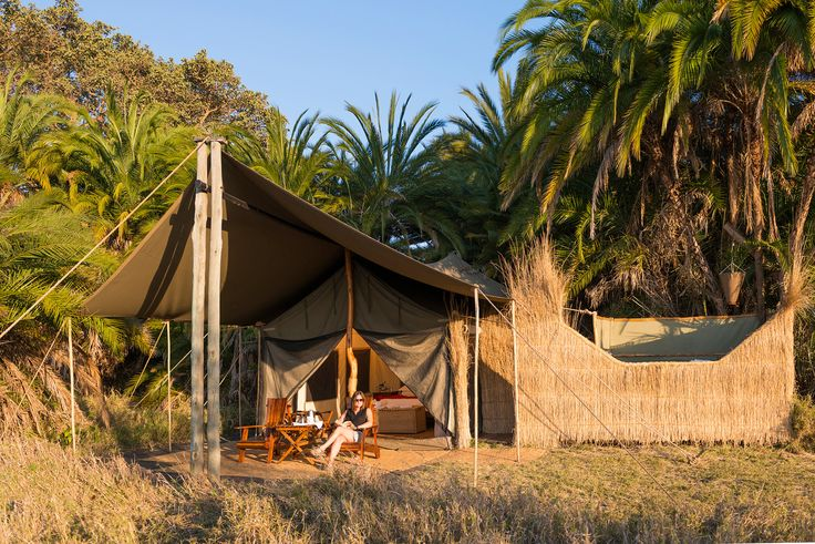 Our luxury tented accommodation allows you to immerse yourself in nature! #busanga #mukambi