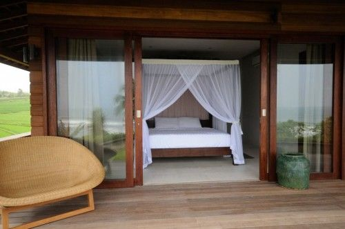 Bulung Daya Private Bali Beach Retreat | The bedroom has views on the beach and on the rice paddies. #Bali #Villas #holiday #travel