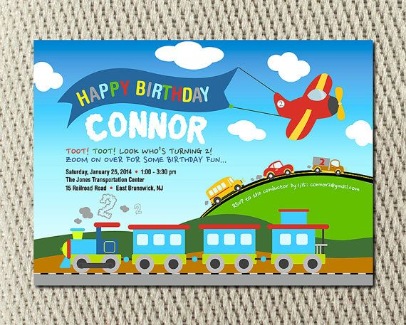 Planes Trains and Automobiles Party by YondeeCelebrations on Etsy, $15.00