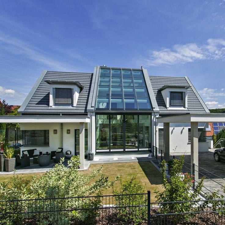 Zweistöckiger Wintergarten integriert ins Haus  Häuser  Pinterest ...