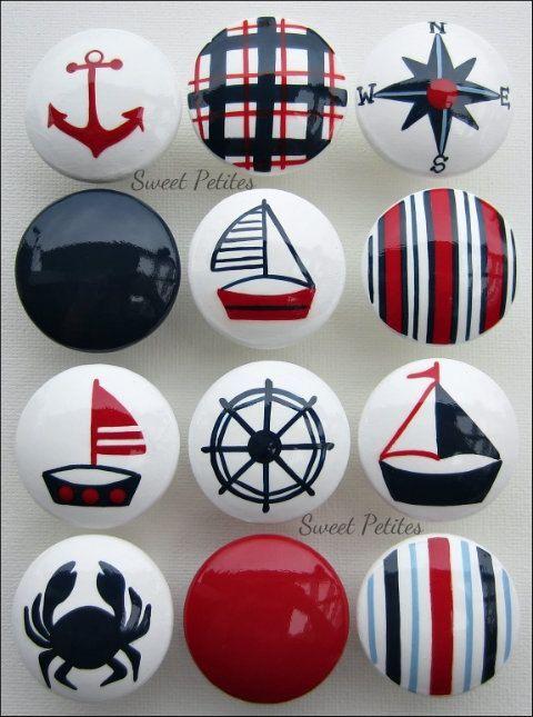 Image result for nautical flag cabinet knob