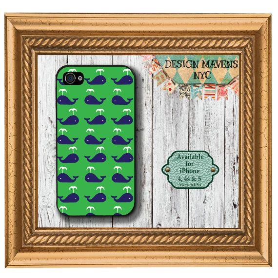 Preppy Whale iPhone Case Hard Plastic iPhone by DesignMavensNYC