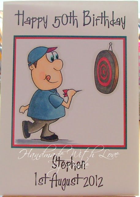 Rosie's Cards: Digistamp boutique Alf playing darts