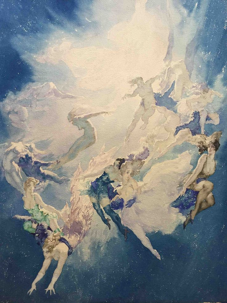A Star Explodes. Norman Lindsay. Day Fine Art. 1932