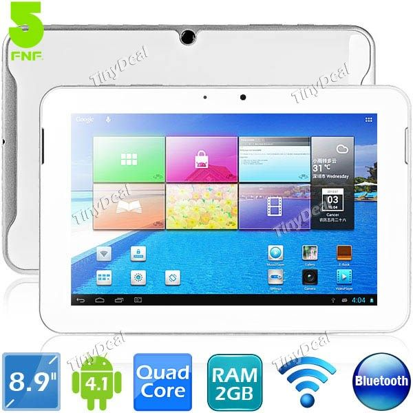"""(FNF) ifive X2 8.9"""" Ecran IPS Android 4.1 RK3188 Quad-core 16Go Tablette PC WiFi Bluetooth CPU 1.8GHz RAM 2Go L-208066"""