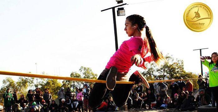Recuerdos de Categoria Femenino en el Sudamericano de los Andes by SLACKER 2013   en la foto la guapísima Fabiana Perez Z.