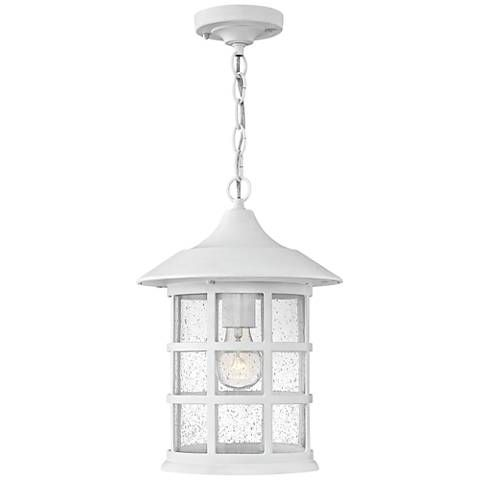 """Freeport 14""""H Classic White LED Outdoor Hanging Light - #10T25 