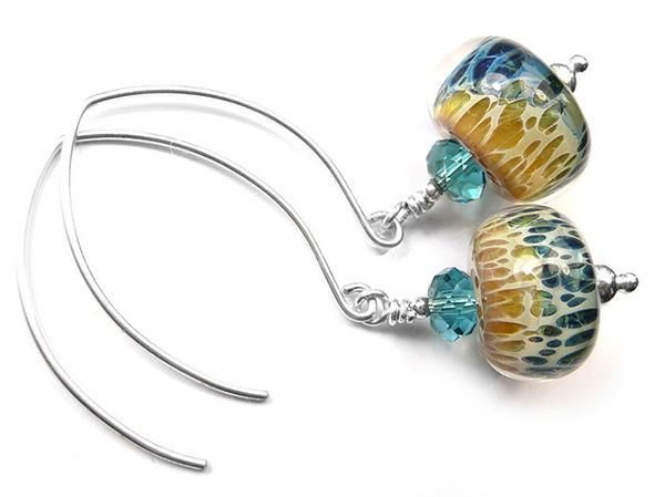 Lampwork Glass Earrings - Hydra