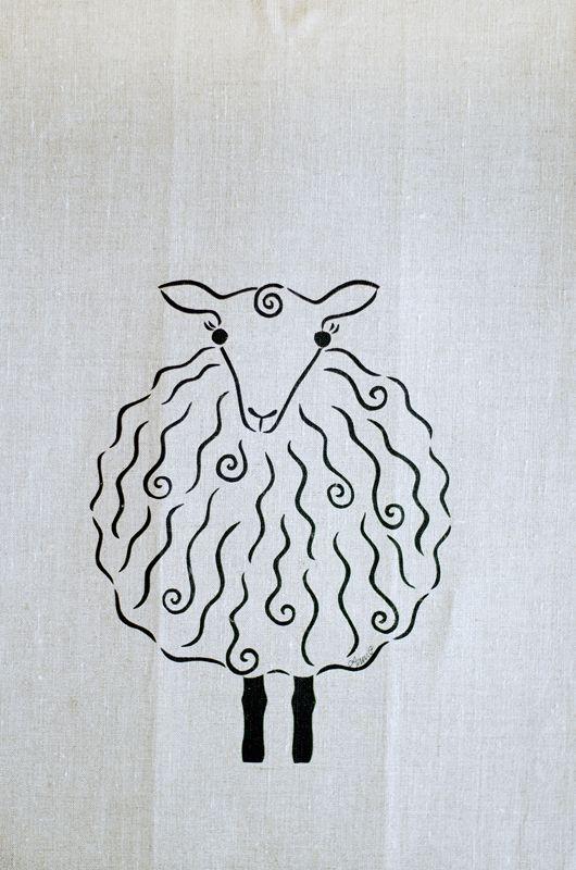 Handduk , får