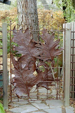How does your garden grow? Don't have one, but this is another awesome gate. Seriously, if you have a gate, make it awesome.: