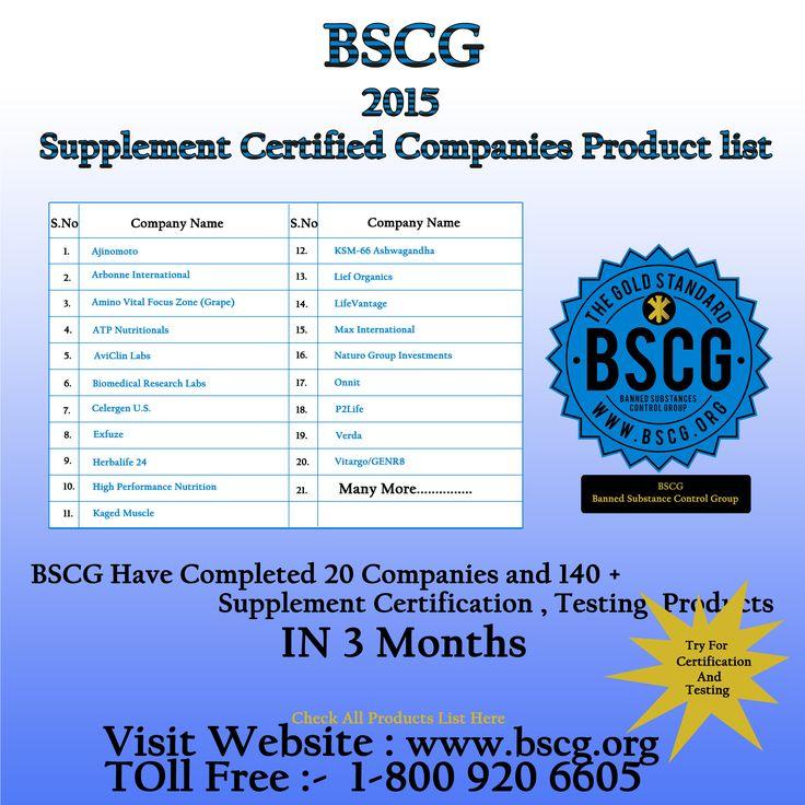 Bscg 2015 Supplement Certified Companies Name List Bscg