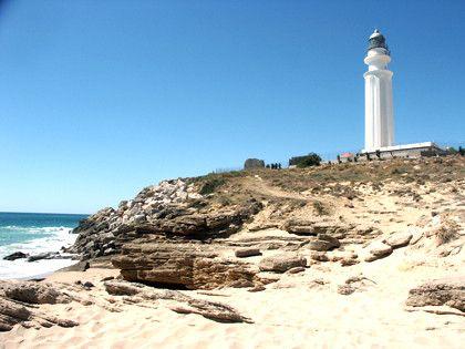 Playa del Faro de Trafalgar en Barbate, Andalucía