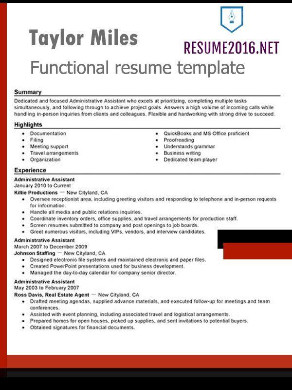 Resume Format Highlighting Skills Resume Format Resume Skills Section Resume Skills Functional Resume Template