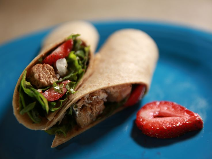 Get this all-star, easy-to-follow Grilled Chicken and Strawberry Salad Wrap recipe from Ree Drummond