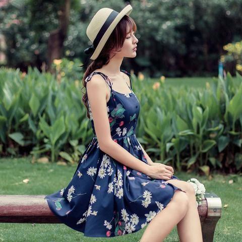 Japanese fashion cherry fruit printed dress - AddOneClothing - 1