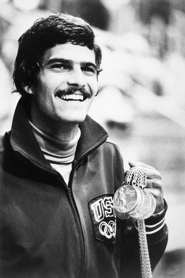 Mark Spitz (1950- ) Between 1968 and 1972, Spitz won nine Olympic golds plus a silver and a bronze, five Pan American golds, 31 US Amateur Athletic Union titles and eight US National Collegiate Athletic Association titles. During those years, he set 33 world records. He was the most successful athlete at the 1972 Summer Olympics. He was named World Swimmer of the Year in 1969, 1971 and 1972.