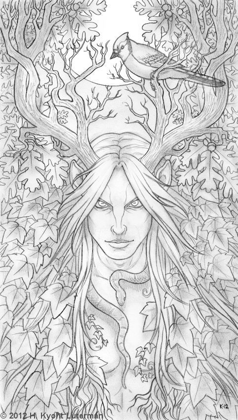 Cernunnos Tattoo | My God Cernunnos (line drawing is all I have of him for now)