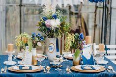 Hochzeitsdeko Blau. Blau wird die Hochzeiten rocken! Erst recht ...