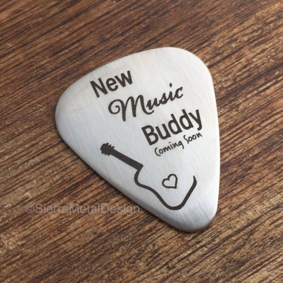 New Music Buddy Guitar Pick Pregnancy Announcement to Dad