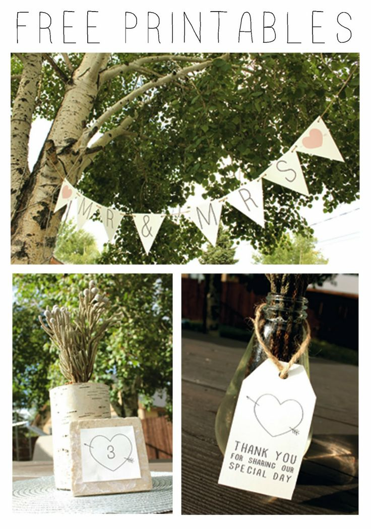 Free Rustic Wedding Printables to download.