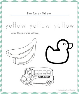 Colors, Yellow and Worksheets on Pinterest