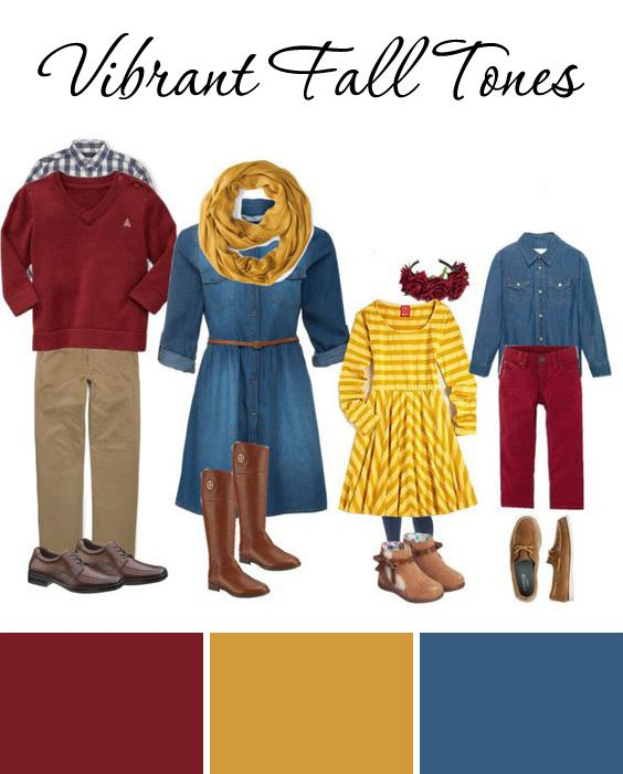Vibrant Fall Tones Fall Family Outfit