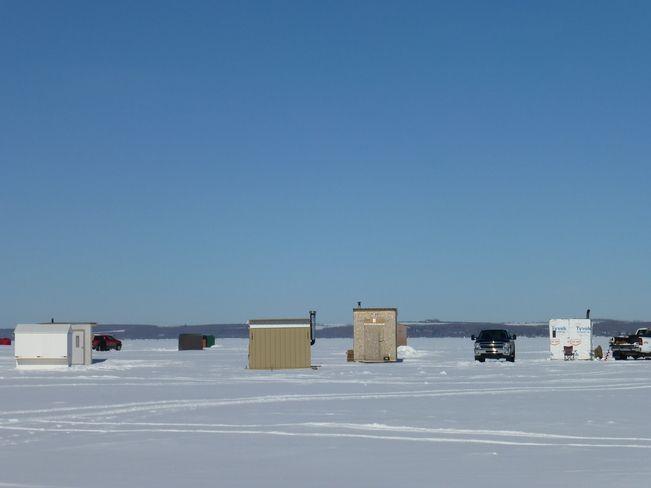 Ice Shacks-- Sylvan Lake, Alberta