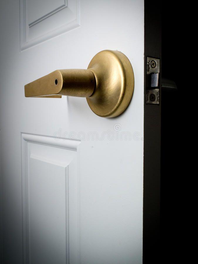 Open Door Leading Into Darkness Or Future Ad Door Open