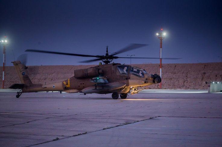 Επιθετικό ελικόπτερο AH-64 της Ισραηλινής Αεροπορίας (μέσω Twitter) | An israeli AH-64 attack helicopter (via Twitter).