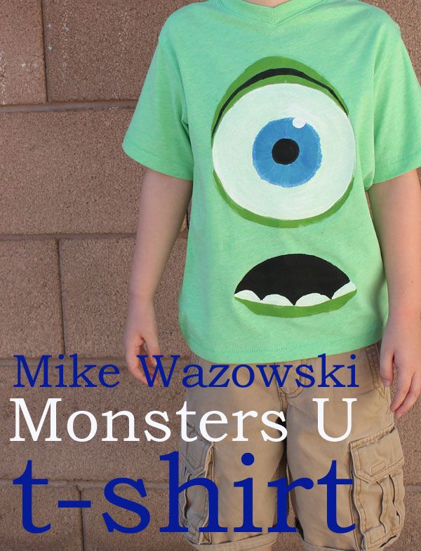 Monsters U t shirt - 30 Minute Crafts