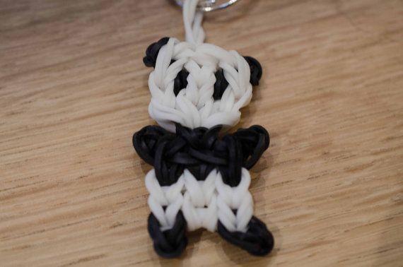Panda Rainbow Loom Keychain or Charm