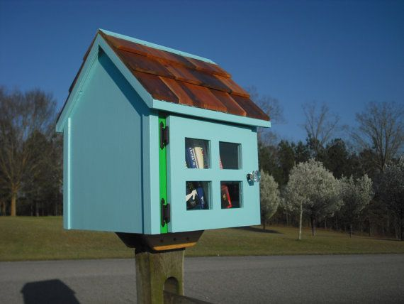 House on a stick-- TWO Colors--with Cedar shingle roof  and true divided lite door with  Post Mount FULLY ASSEMBLED