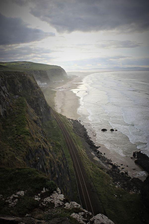 Les côtes de Mussenden, Irlande du Nord.