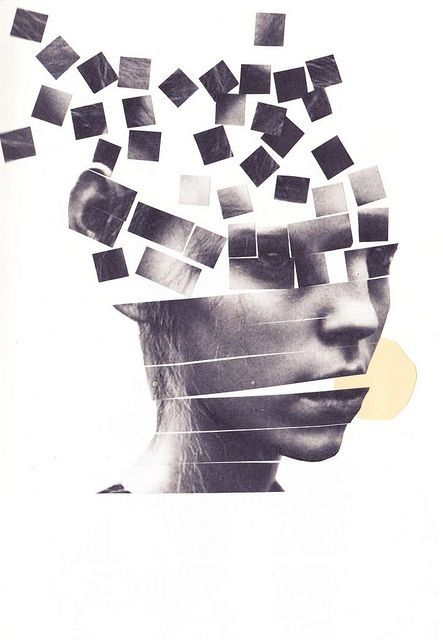 portrait / fragmentation 8th grade Students can cut up self-portrait photograph after they finish their drawings and have an accompanying piece. Collage with text?: