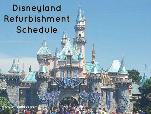 Disneyland Refurbishment Schedule for November 2015
