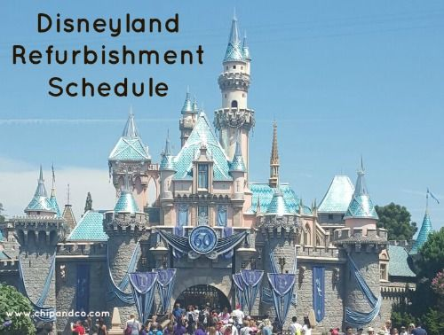 Disneyland Refurbishment Schedule for November 2015