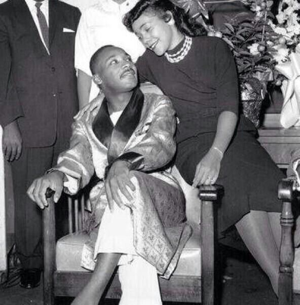 Martin Luther King, Jr and his lovely wife, Coretta