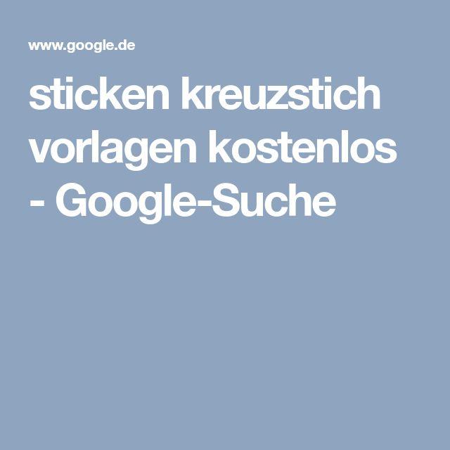 sticken kreuzstich vorlagen kostenlos - Google-Suche