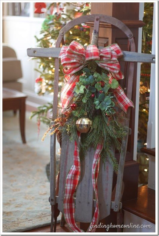 Incredible Holiday Decorating Skates Amp Sleds Christmas Sled And Door Handles Collection Olytizonderlifede