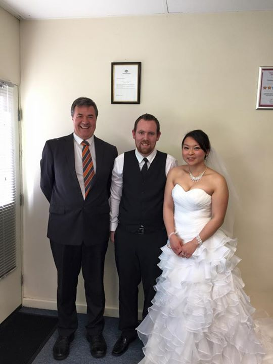 Congratulations to Bradley and Tik Lui married in Tuesday at the Simple Weddings office!