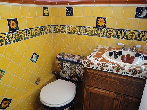 TALAVERA TILES, SINKS AND TOILETS AVAILABLE @ GONZ DECORATIONS.