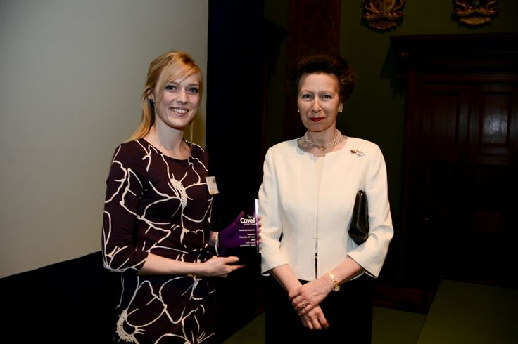 HRH The Princess Royal and Charlotte Johnston, our winner in the Edith Cavell Leadership Award category