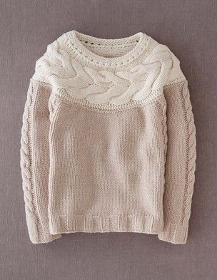 @BodenClothing Handknit Cable Sweater Sandstone - would love doing this with a kidsilk haze, very subtle cabling in a loose knit