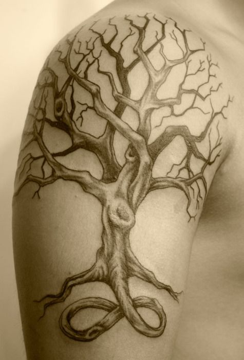 17 best images about tatouage on pinterest samoan tattoo armors and icarus tattoo - Tatouage arbre dos ...