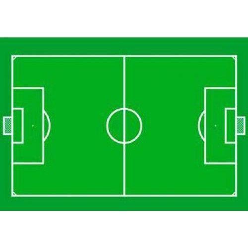 Non-license Vloerkleed Voetbal: 95x133 cm