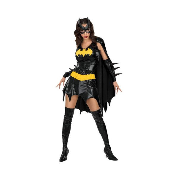 Sexy Batgirl Costume ❤ liked on Polyvore featuring costumes, batman halloween costumes, batman costume, sexy batgirl costume, party costumes and sexy batman costume