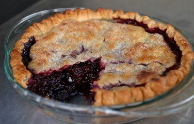 3 cups marionberries 1 cup berries 1¼ cups sugar 1 Tbsp. tapioca 3½ Tbsp. flour ½ tsp. cinnamon Steps Mix and fill piecrust, apply top, seal edges, brush with milk and sprinkle with sugar. Bake at 450 degrees for 10minutes then turn down to 350 for 40 minutes. This content is from the Marionberry Recipes collection.