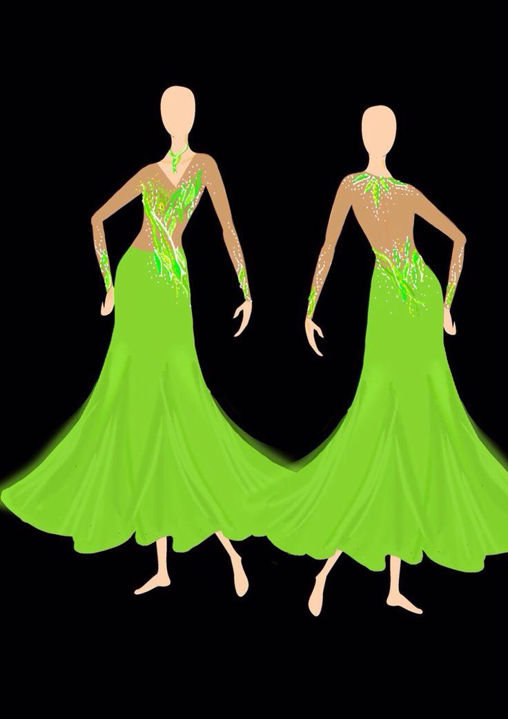 Ballroom dress design on PS By Pakaorn Kuituan ( Best Design Dancewear )